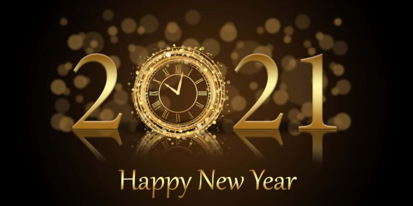 2021 picture with happy new year caption for happy new year 2021 blog post